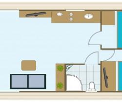 Hausboot - Grundriss