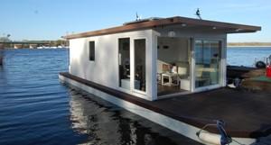 Hausboot weiß